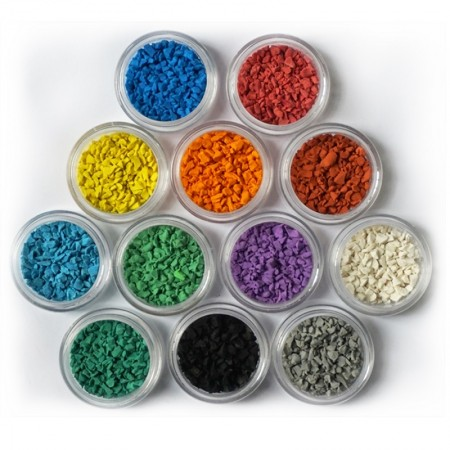 环保标准EPDM塑胶跑道球场颗粒