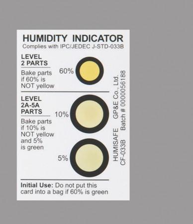 绿色环保型湿度指示卡