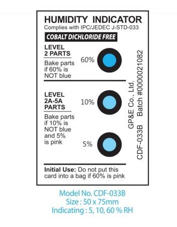 蓝变粉湿度指示卡