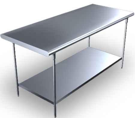 不锈钢双层工作台