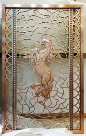 铝艺铜艺不锈钢屏风定制