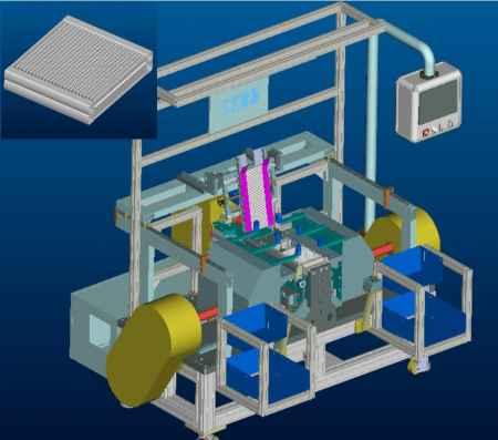 蒸发器芯体组装机